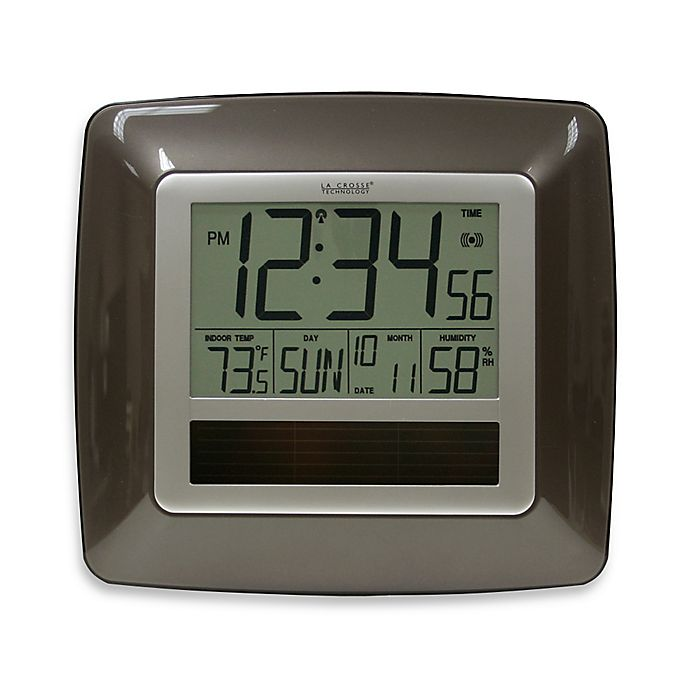 La Crosse Technology Atomic Digital Clock w/ Indoor Temp ...