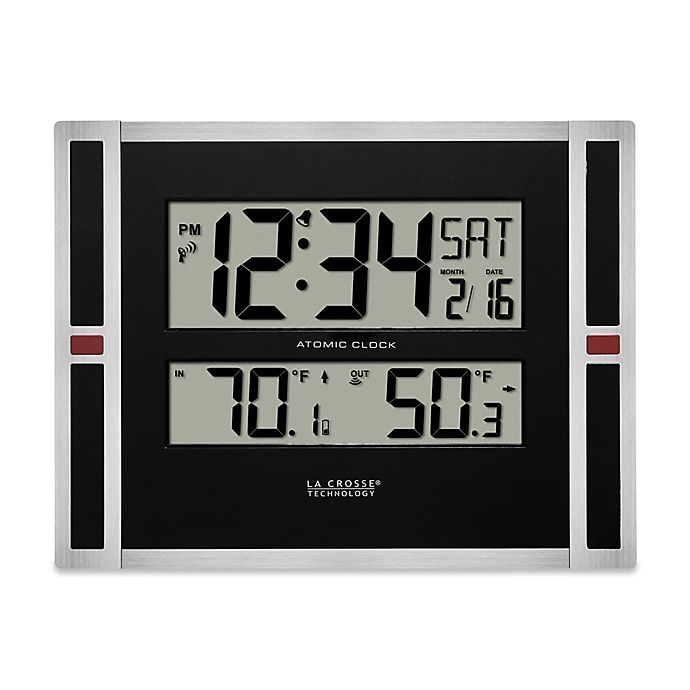 La Crosse Atomic Digital Clock with In/Out Temperature in ...