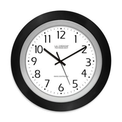 La Crosse Technology 10-Inch Atomic Analog Wall Clock in ...