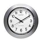 La Crosse® Technology Atomic Analog Clock in Silver