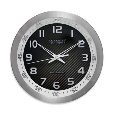 La Crosse Technology Atomic Analog Chapter Ring Wall Clock