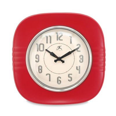 Infinity Instruments 50s Style Diner Wall Clock In Red Bed Bath Beyond