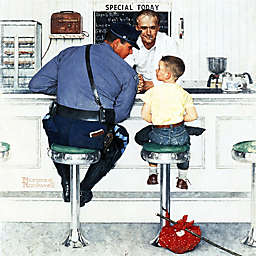 Norman Rockwell Runaway 18-Inch x 18-Inch Canvas Wall Art
