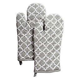Lattice Quilted Oven Mitts (Set of 2)