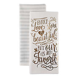Love Story Kitchen Towels (Set of 2)