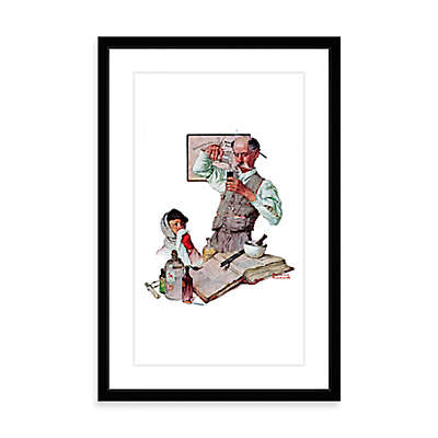 Norman Rockwell Pharmacist 16-Inch x 24-Inch Framed Print Wall Art