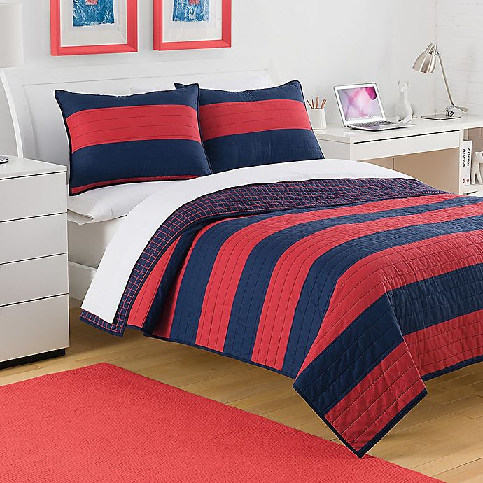 Alternate image 1 for IZOD® Nottingham Reversible Quilt