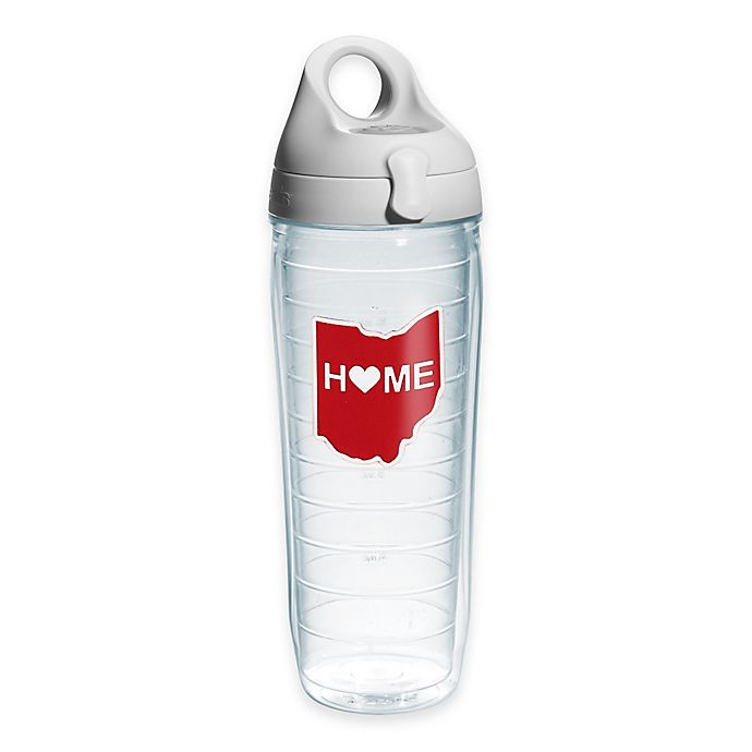 Alternate image 1 for Tervis® Home Heart Ohio 24 oz. Water Bottle with Lid