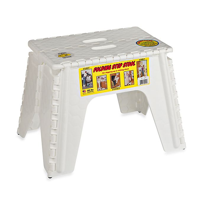 Alternate image 1 for EZ Foldz 12-Inch Folding Step Stool in White
