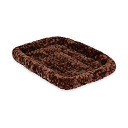 Cozy Polyester 25-Inch x 20-Inch  Pet Crate Bed in Chocolate