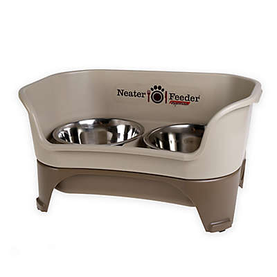 Dog Feeder for Medium to Large Dogs in Cappuccino