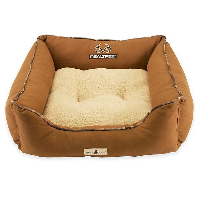 Alternate image 1 for Realtree Duck Dogs Pet Bed in Chestnut