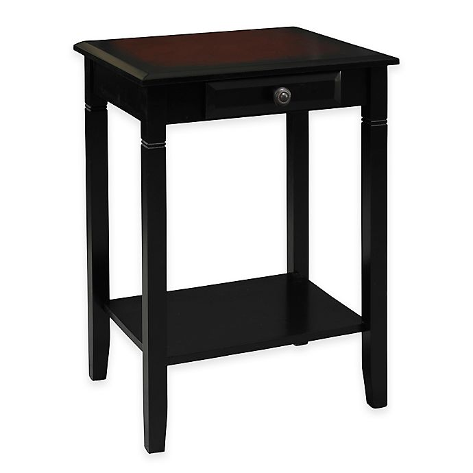camden accent table in black cherry bed bath beyond. Black Bedroom Furniture Sets. Home Design Ideas