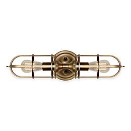 Feiss® Urban Renewal 2-Light Bath Wall Bracket in Antique Brass
