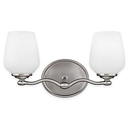 Sea Gull Collection by Generation Lighting Vintner 2-Light Vanity Fixture in Satin Nickel