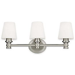 Feiss® Xavierre 3-Light Wall Sconce in Satin Nickel