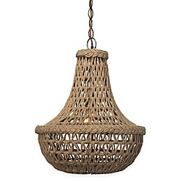 Company Jute Macrame 1-Light Chandelier in Antique Bronze