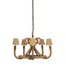 Company Jute Nautique 5-Light Chandelier in Antique Bronze