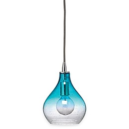 Jamie Young Small Curved Seeded Glass Pendant