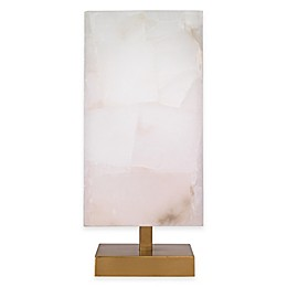 Ghost Axis Table Lamp with Alabaster Shade