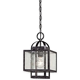 Minka Lavery® Camden Square 1-Light Pendant in Charcoal