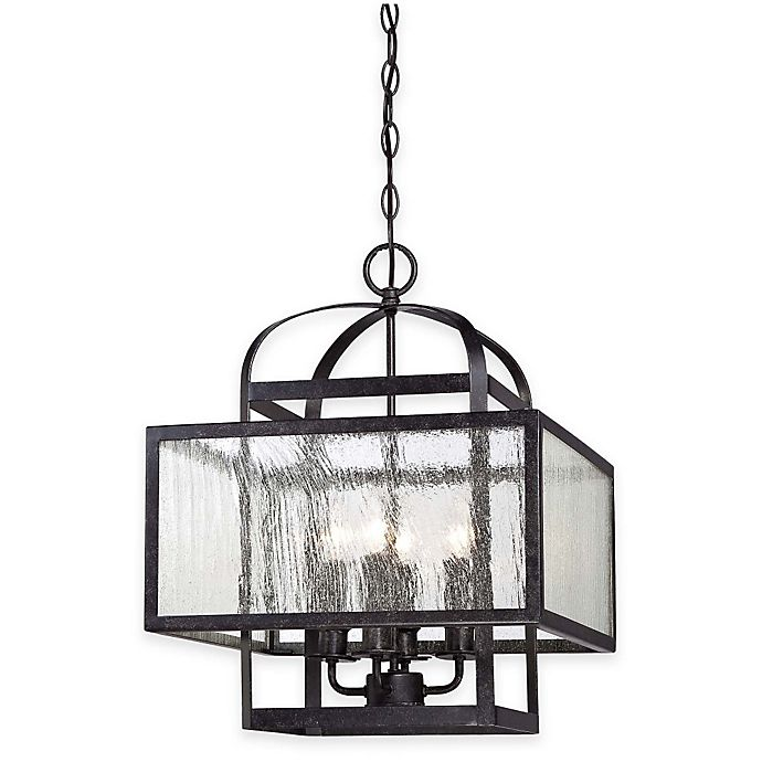 Alternate image 1 for Minka Lavery® Camden Square 4-Light Chandelier in Charcoal