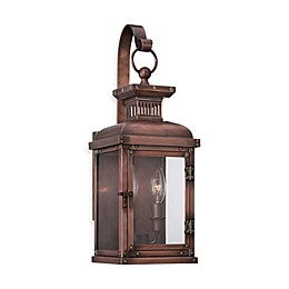 Minka Lavery® Copperton 2-Light Wall-Mount Lantern in Copper with Glass Shade