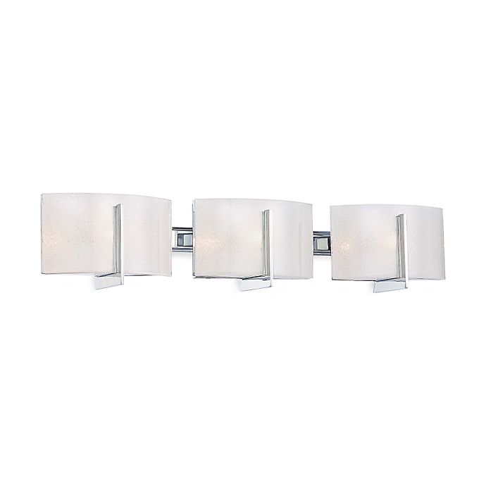 Alternate image 1 for Minka Lavery® Clarté 3-Light Wall-Mount Bath Fixture with Glass Shade