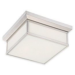 Minka Lavery® Daventry 2-Light Flush-Mount Bath Light in Polished Nickel