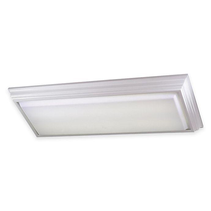 Minka Lavery 174 4 Light Flush Mount Kitchen Fluorescent Ceiling Fixture In White W Acrylic Shade