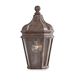 Minka Lavery® Harrison™ 15-Inch Wall-Mount Outdoor Pocket Lantern in Rust