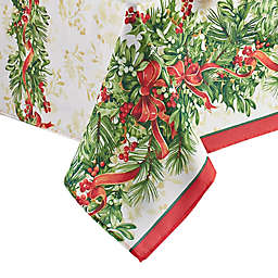 Elrene Home Fashions Holly Traditions Holiday Table Linen Collection
