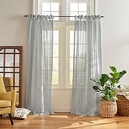 Vienna Sheer Tie-Top Window Curtain Panel