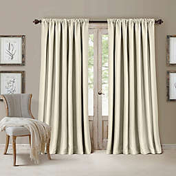 All Seasons Rod Pocket Room Darkening Window Curtain Panel (Single)