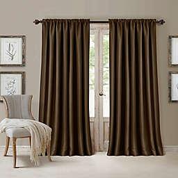 All Seasons 84-Inch Rod Pocket Room Darkening Window Curtain Panel in Chocolate (Single)