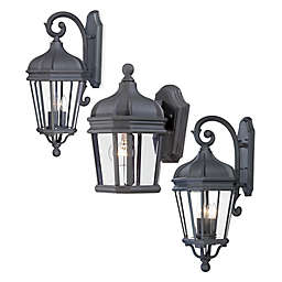 Minka Lavery® Harrison™ Outdoor Lantern Collection in Black