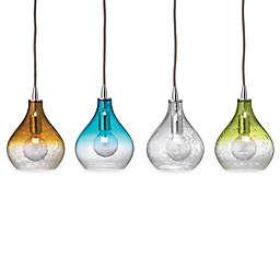 Curved Glass 1-Light Pendants