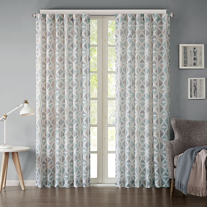 Alternate image 1 for INK+IVY Hawthorne 95-Inch Rod Pocket Window Curtain Panel in Indigo