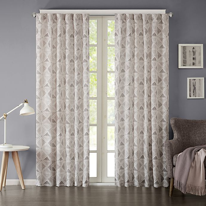 Alternate image 1 for INK+IVY Hawthorne 95-Inch Rod Pocket Window Curtain Panel in Grey