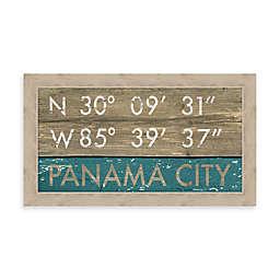 Panama City, Florida Coordinates 28-Inch x 16-Inch Framed Wall Art