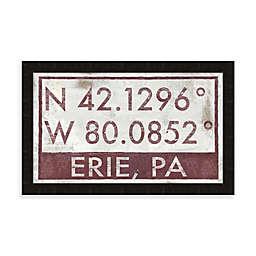 Erie, Pennsylvania Coordinates Framed Wall Art