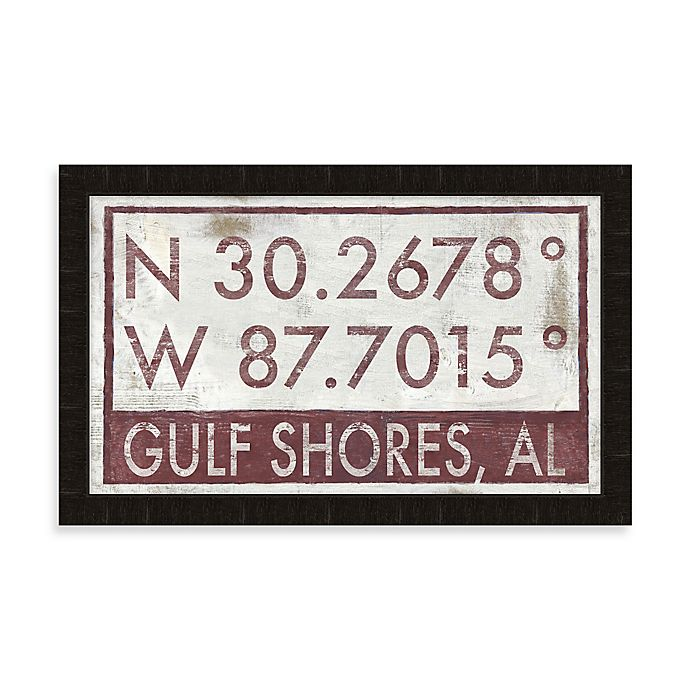 Alternate image 1 for Gulf Shores Coordinates Framed Wall Art
