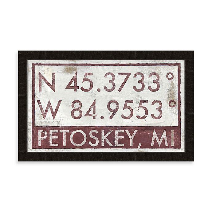 Petoskey Michigan Coordinates Framed Wall Art Bed Bath