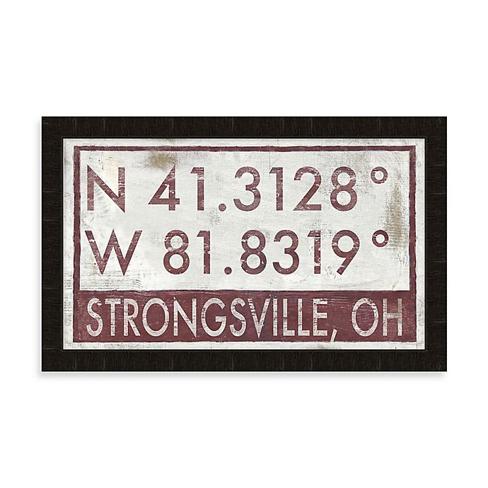 Buy Strongsville Ohio Coordinates Framed Wall Art From Bed