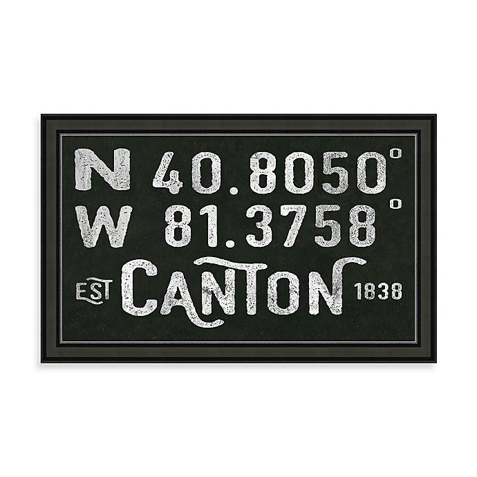Alternate image 1 for Canton Ohio Coordinates Framed Wall Art