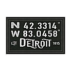 Detroit, Michigan Coordinates Framed Wall Art