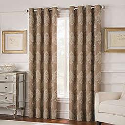 Valeron Belvedere 63-Inch Grommet Top Room-Darkening Window Curtain Panel in Mocha
