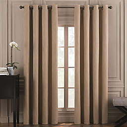 Valeron Belvedere Solid 84-Inch Grommet Top Room-Darkening Window Curtain Panel in Mocha
