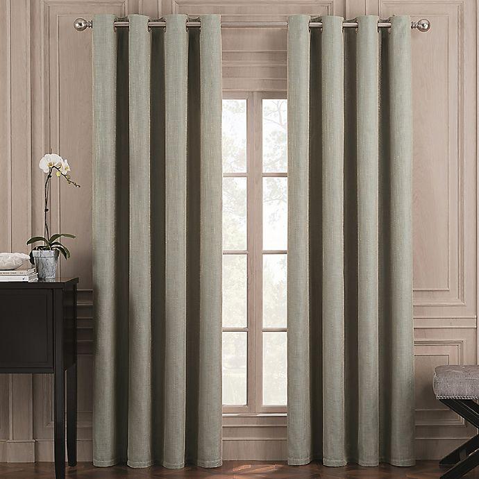 Alternate image 1 for Valeron Belvedere Solid 108-Inch Grommet Top Room-Darkening Curtain Panel in Spa (Single)