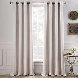Cole Stripe Grommet Top Window Curtain Panel (Single)